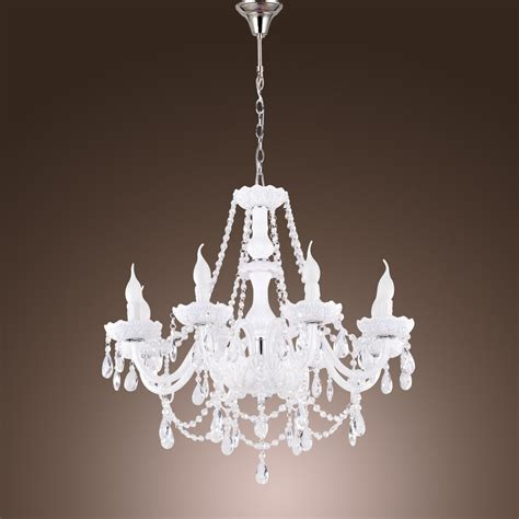 Chandelier Light Fixtures by 8 Arms White Chandelier Candle Light Pendant