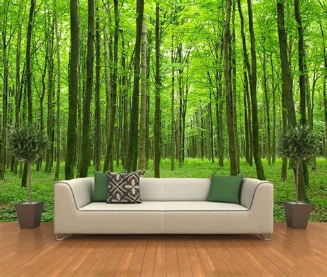 peel  stick photo wall mural decor wallpapers forest