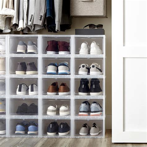 mens drop front shoe box  container store