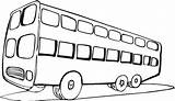 Bus Coloring Clipart Sheets sketch template