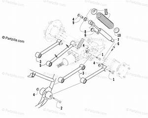 Arctic Cat Atv 2003 Oem Parts Diagram For Rear Suspension Assembly