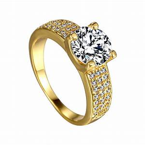 high quality wedding rings 18k gold plated austrian With high quality wedding rings