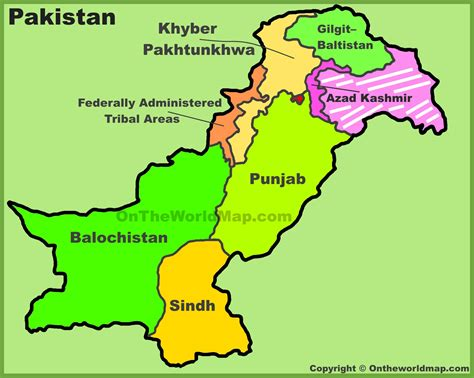 administrative divisions map  pakistan