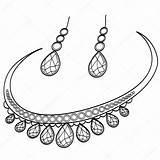 Colorare Coloring Diamond Earrings Coloriage Necklace Libro Raster Orecchini Oreille Diamante Colorear Ed Collane Collana Televisivo Quadro Livre Pietra Preziosa sketch template