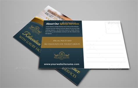 postcard template graphicriver hotel postcard template by owpictures graphicriver
