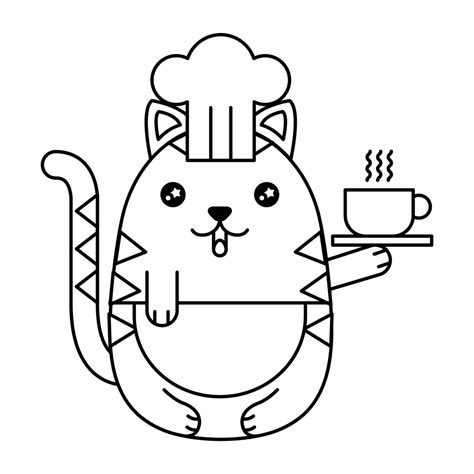 gatitos kawaii para colorear seonegativo