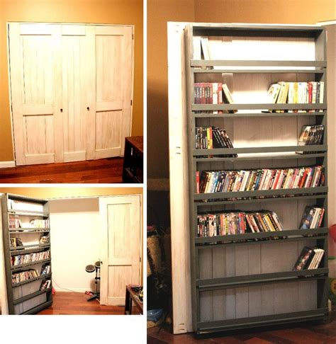 Closet Door Storage by White Closet Door And Dvd Storage Diy Projects