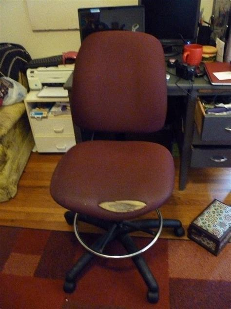 ugly office chair  chic  work chair upholstery