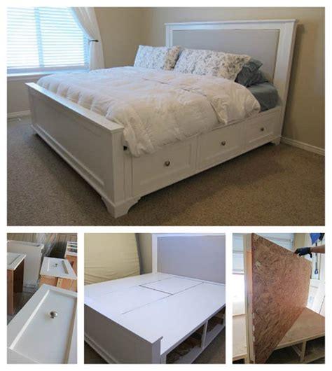 creative ideas   build  farmhouse storage bed
