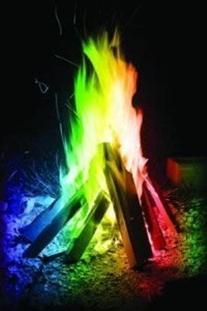campfire chemistry turn  flames  colors
