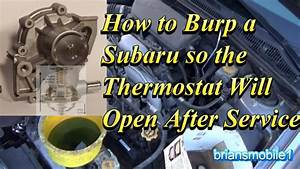 Burp An Overheating Subaru After Service