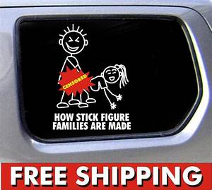 Stick Figure Family decal funny window bumper sticker car ...