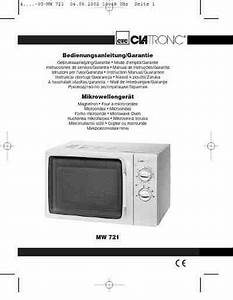 Clatronic Mw 721 Microwave Oven Download Manual For Free