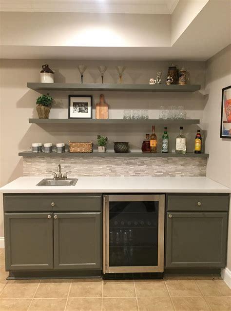 Basement Bar Backsplash by Basement Bar Almost Done Backsplash Tile And Cabinets