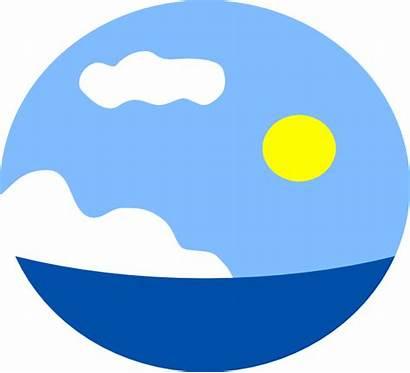Sea Scene Clip Clipart Sky Sun Clker