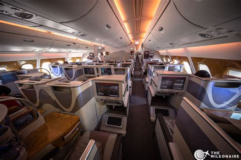 Business Class Cabin Emirates Emirates Business Class A380 Review Und Foto Bericht