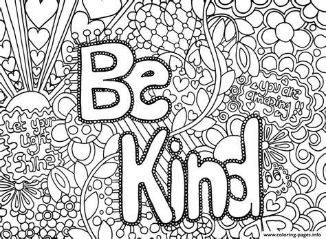 kind word coloring pages printable