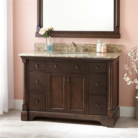 vanity cabinet 48 quot vanity cabinet for rectangular undermount sink