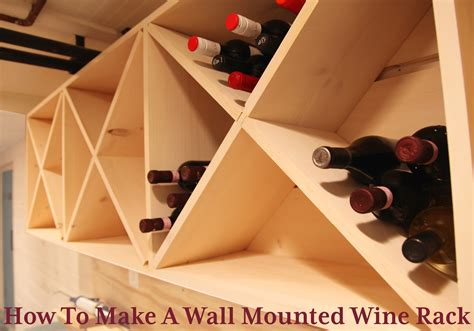 How To Build A Wine Cabinet by Our Basement Part 56 Wall Mounted Wine Rack Stately Kitsch