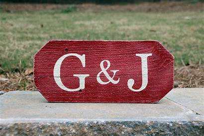 Initials Sign Wood Painted Signs Gift Decor