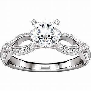 127641awe infinity inspired engagement ring With wedding ring infinity design