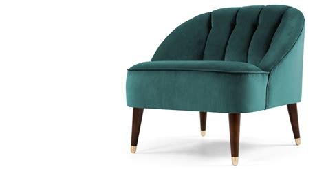 margot accent chair peacock blue velvet made