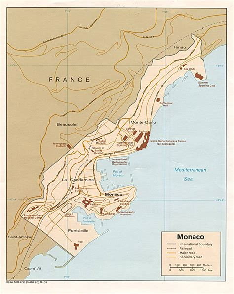 monaco map geography  maps  monaco