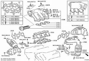 Toyota Rav4 Converter Sub-assembly  Exhaust Manifold  Engine - 250510v070