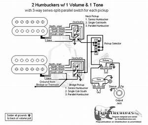 Guitar Wiring Diagram Two Humbuckers 1 Volume 1 Tone : 2 humbuckers 3 way lever switch 1 volume 1 tone series ~ A.2002-acura-tl-radio.info Haus und Dekorationen