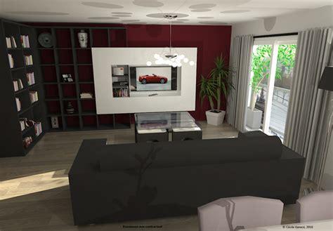 Simulation 3d De Salons Contemporains