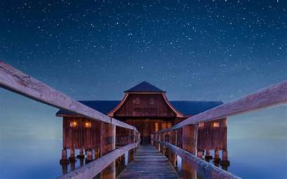 Night Boathouse Wallpapers Widescreen 1680 1050 1440