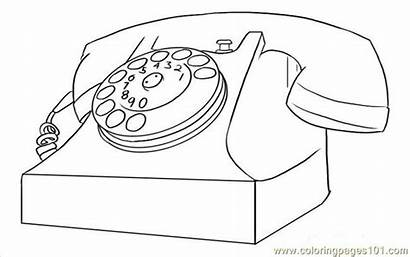 Phone Telephone Coloring Step Draw Drawing Pages