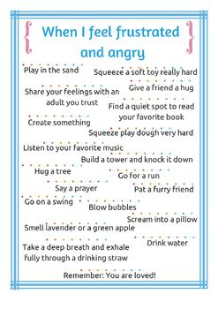 calm  cards strategies  managing anger
