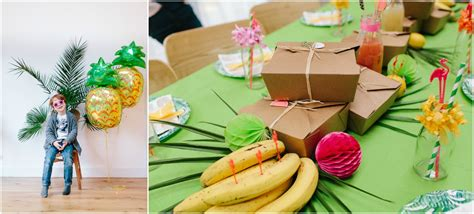 tropical pineapple party ideas  inspiration