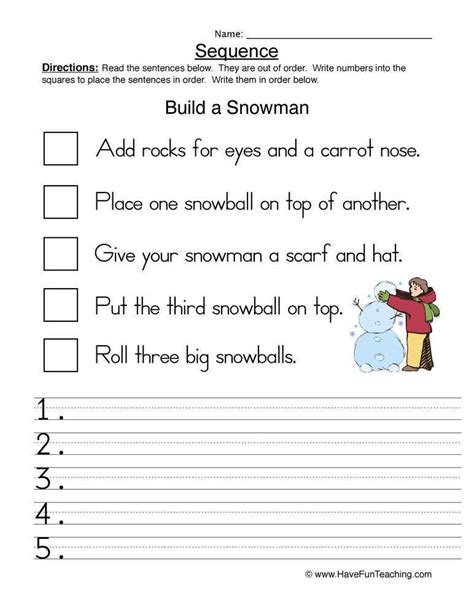 Sequence Of Events Worksheets Homeschooldressagecom