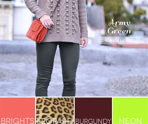 colors that go with army green army green the new neutral