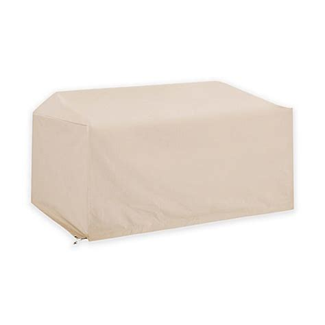 Outdoor Loveseat Cover by Crosley Outdoor Loveseat Furniture Cover In Brown Bed