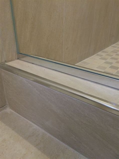 schluter tile edging colors schluter system rondec chrome edge profiling showers