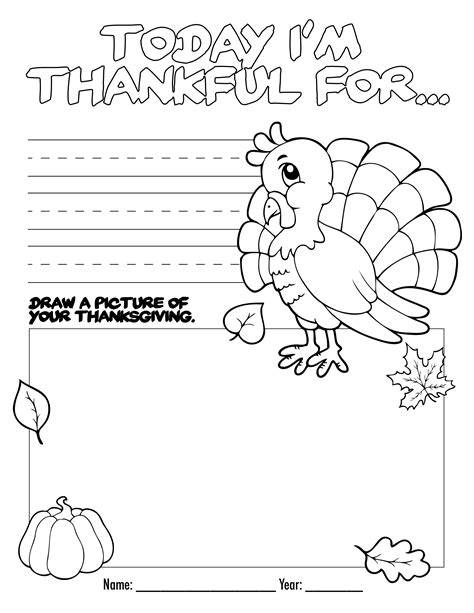 thanksgiving coloring book free printable for the