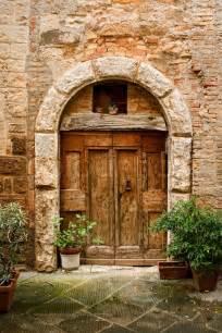 italian style home plans doors of tuscany italy stock photo colourbox