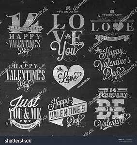 happy valentines day hand lettering typographical stock With hand lettering ornaments