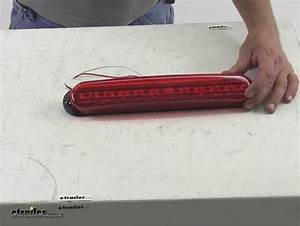 Long  Thin Oval Led Trailer Stop  Turn And Tail Light  3