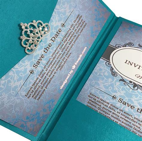 light teal color luxury silk pocket fold design