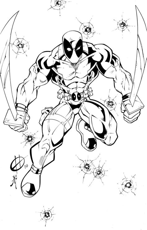 printable deadpool coloring pages  kids