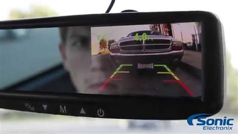 boyo vision rear view mirror camera sensor system vtb44mcp youtube