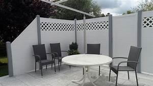 sichtschutz wpc weiss wf07 hitoiro With französischer balkon mit gartenzaun holz grau