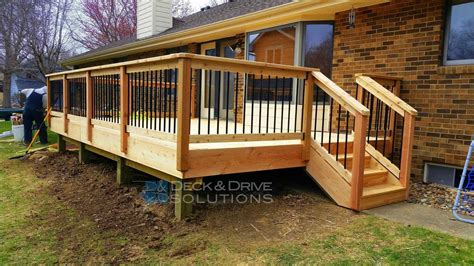 The Images Collection Of Deck Wood Deck Railing With Metal