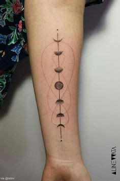 moon phases tattoo pointillism  tattoos pinterest moon phases moon  tattoo