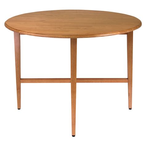 42 inch round kitchen table amazon com winsome wood 42 inch round drop leaf table