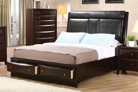 phoenix collection kw coaster california king bed frame